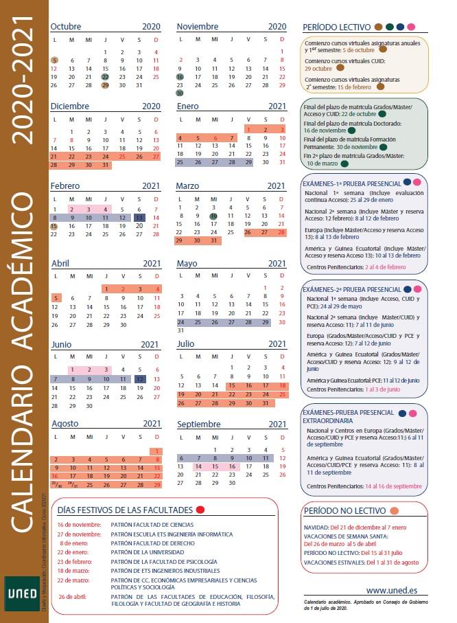 Uned Calendario Examenes.Uned Fuerteventura